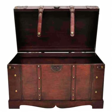Vintage Large Wooden Treasure Chest[3/7]