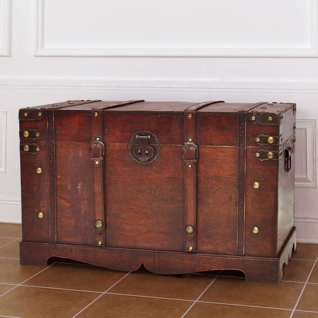 Vintage Large Wooden Treasure Chest