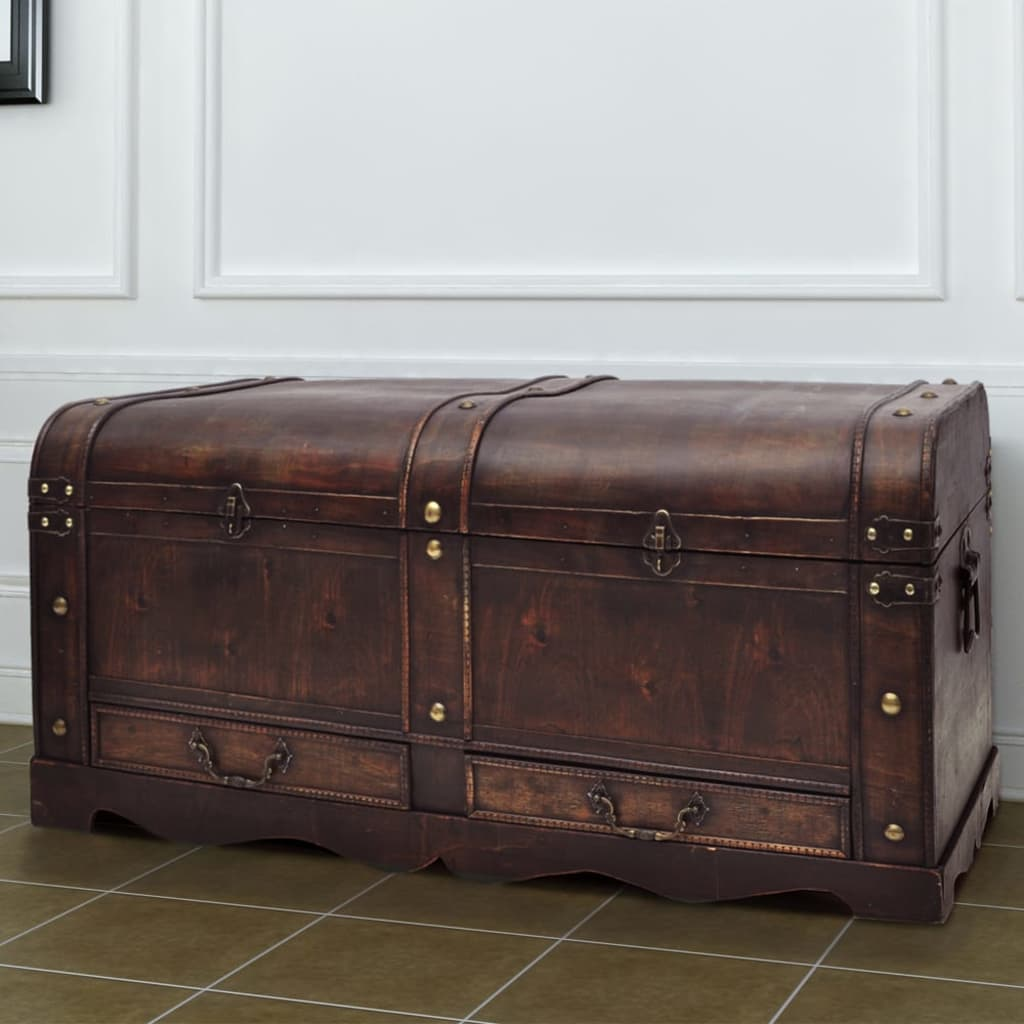 robuste schatztruhe holztruhe truhe braun couchtisch im. Black Bedroom Furniture Sets. Home Design Ideas