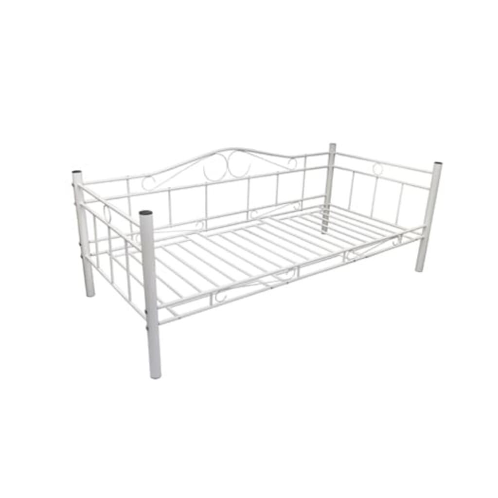 la boutique en ligne lit banquette m tal blanc 90 x 200. Black Bedroom Furniture Sets. Home Design Ideas