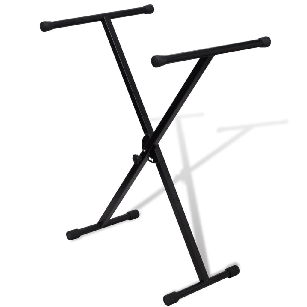 Afbeelding van vidaXL Keyboardstandaard verstelbaar enkelvoudig X-frame