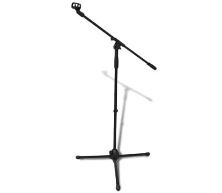 Pied de microphone réglable en hauteur et pliable