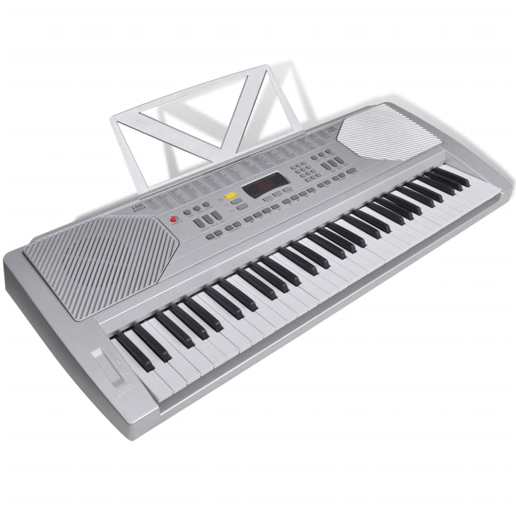 61 piano key electric keyboard with music stand. Black Bedroom Furniture Sets. Home Design Ideas