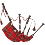 Skotsk Great Highland Sekkepipe Red Royal Steward Tartan
