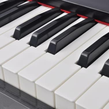 vidaXL Piano avec 88 touches avec pédales Noir Panneau en mélamine[3/8]