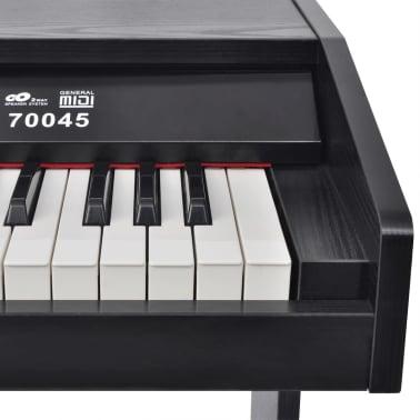 vidaXL Piano avec 88 touches avec pédales Noir Panneau en mélamine[4/8]
