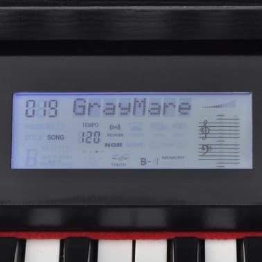 vidaXL Piano avec 88 touches avec pédales Noir Panneau en mélamine[6/8]
