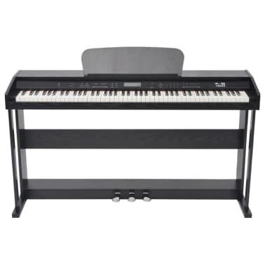vidaXL Piano avec 88 touches avec pédales Noir Panneau en mélamine[2/8]
