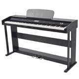 vidaXL 88 taustiņu digitālās klavieres, melnas, melamīna plāksne