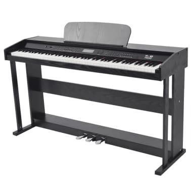 vidaXL Piano avec 88 touches avec pédales Noir Panneau en mélamine[1/8]