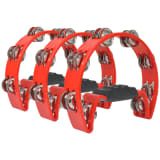 vidaXL Tambourine Set 3 pcs Plastic Red