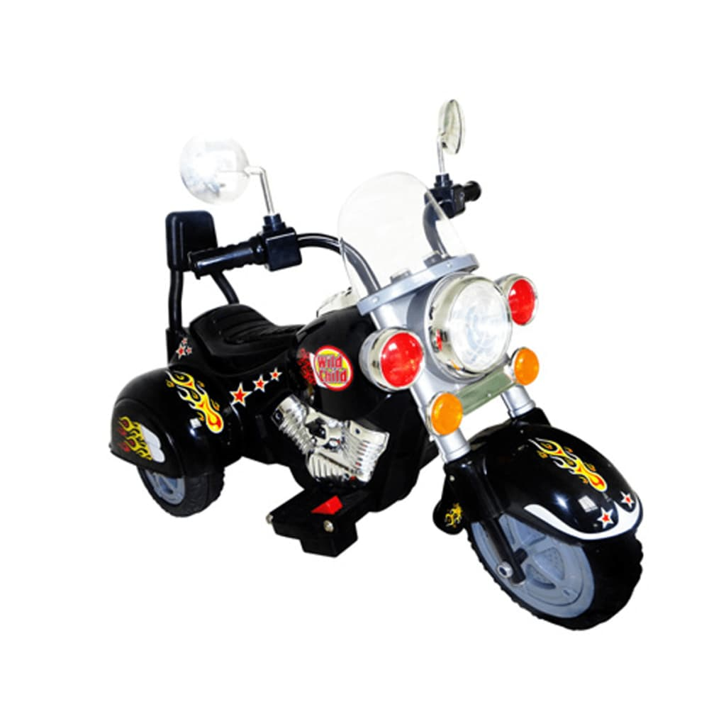 kinder motorrad chopper 2 5 km h akku schwarz. Black Bedroom Furniture Sets. Home Design Ideas