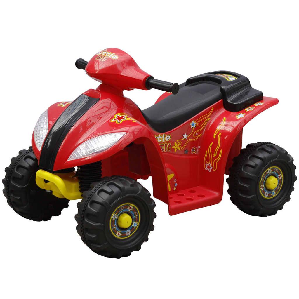 vidaXL Gyerek Quad Elektromos Kisautó Piros és Fekete