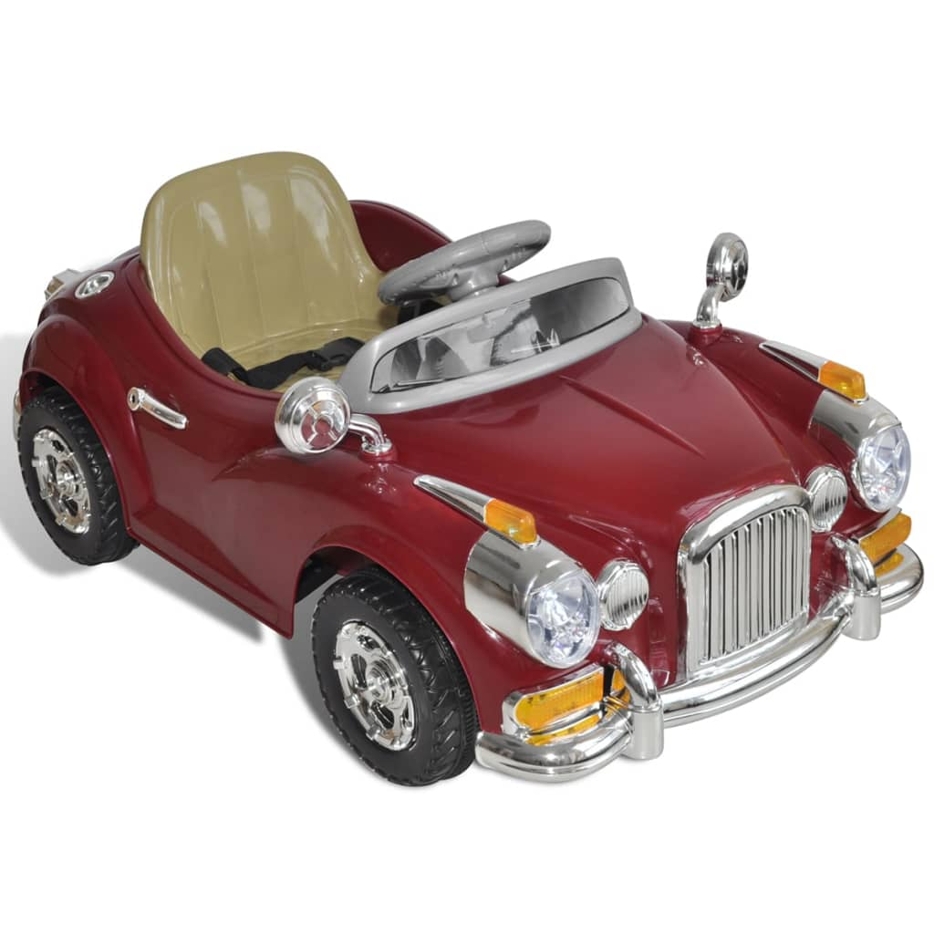 voiture enfant batterie beige rouge v hicule voiture lectrique enfant ebay. Black Bedroom Furniture Sets. Home Design Ideas