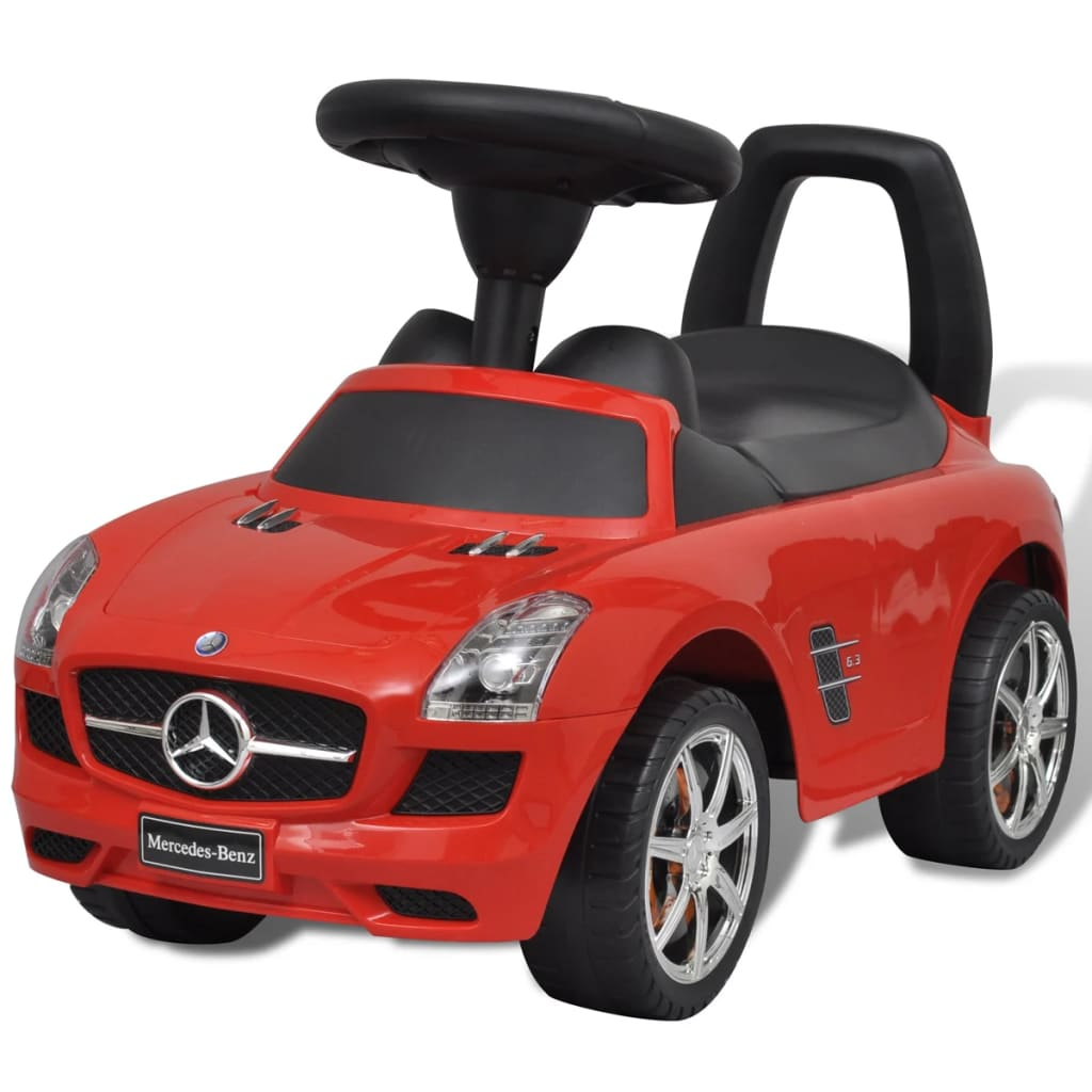 Mercedes benz foot powered kids car red for Mercedes benz toddler car