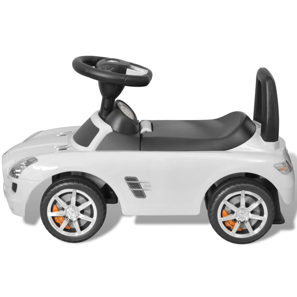 Mercedes benz foot powered kids car white for Mercedes benz toddler car