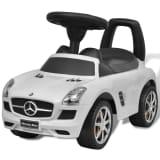 Mercedes Benz Foot-Powered Kids Car White