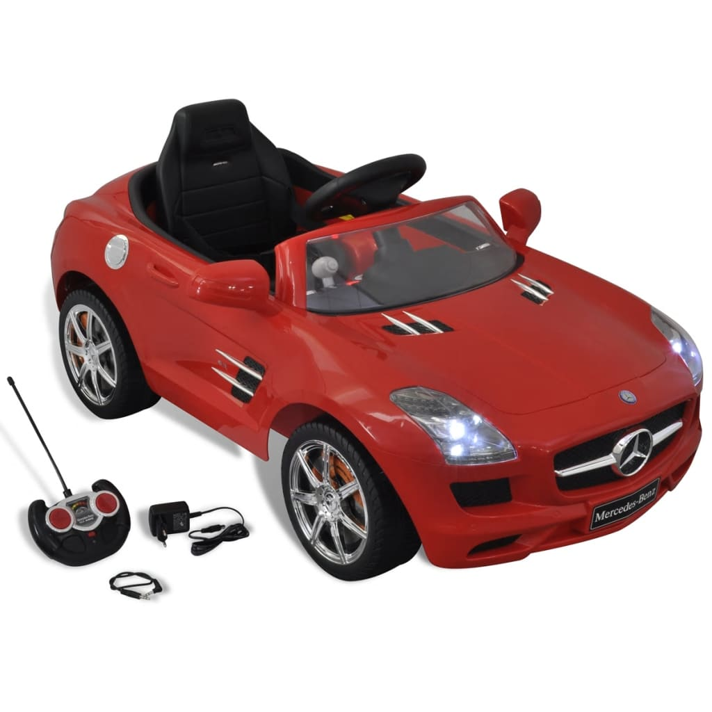 mercedes benz bmw voiture enfant batterie avec t l commande rouge blanc ebay. Black Bedroom Furniture Sets. Home Design Ideas