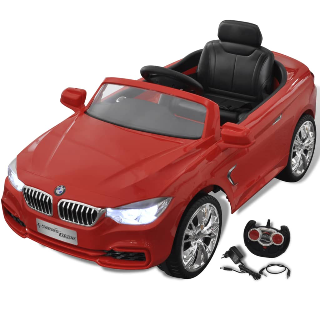 bmw elektroauto mit fernbedienung kinderfahrzeug rot. Black Bedroom Furniture Sets. Home Design Ideas