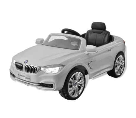 bmw voiture enfant batterie avec t l commande blanc. Black Bedroom Furniture Sets. Home Design Ideas