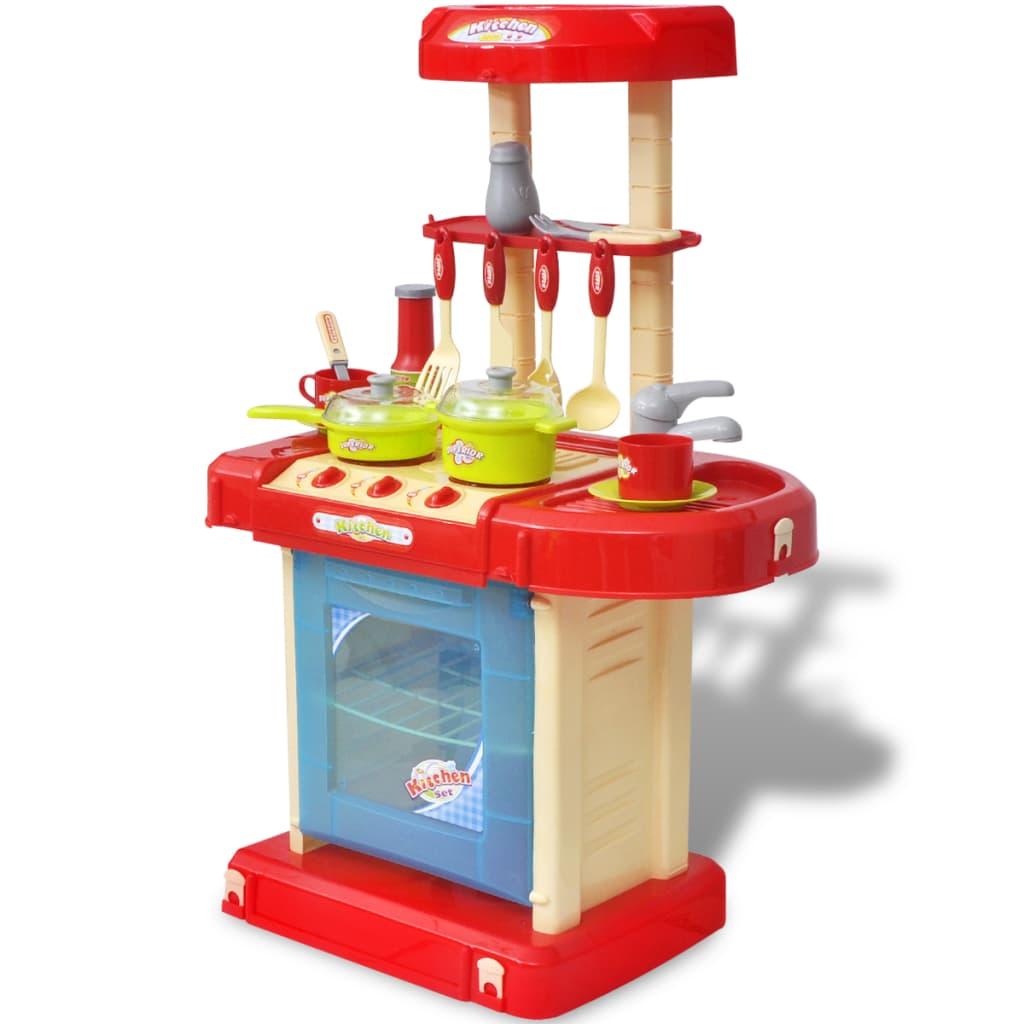 vidaXL Lekekjøkken for barn med lyd/lys effekter