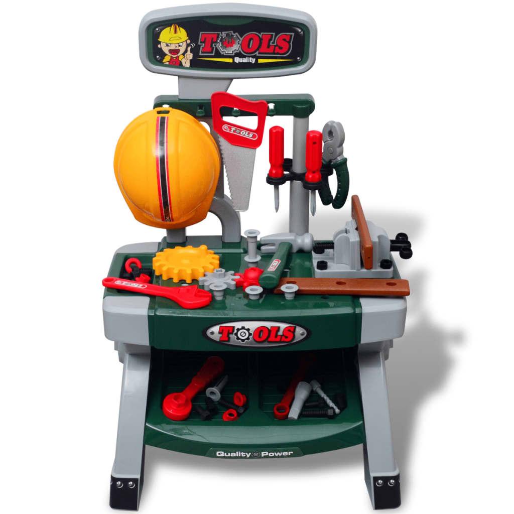 acheter tabli jouet avec outils pour enfants vert gris pas cher. Black Bedroom Furniture Sets. Home Design Ideas