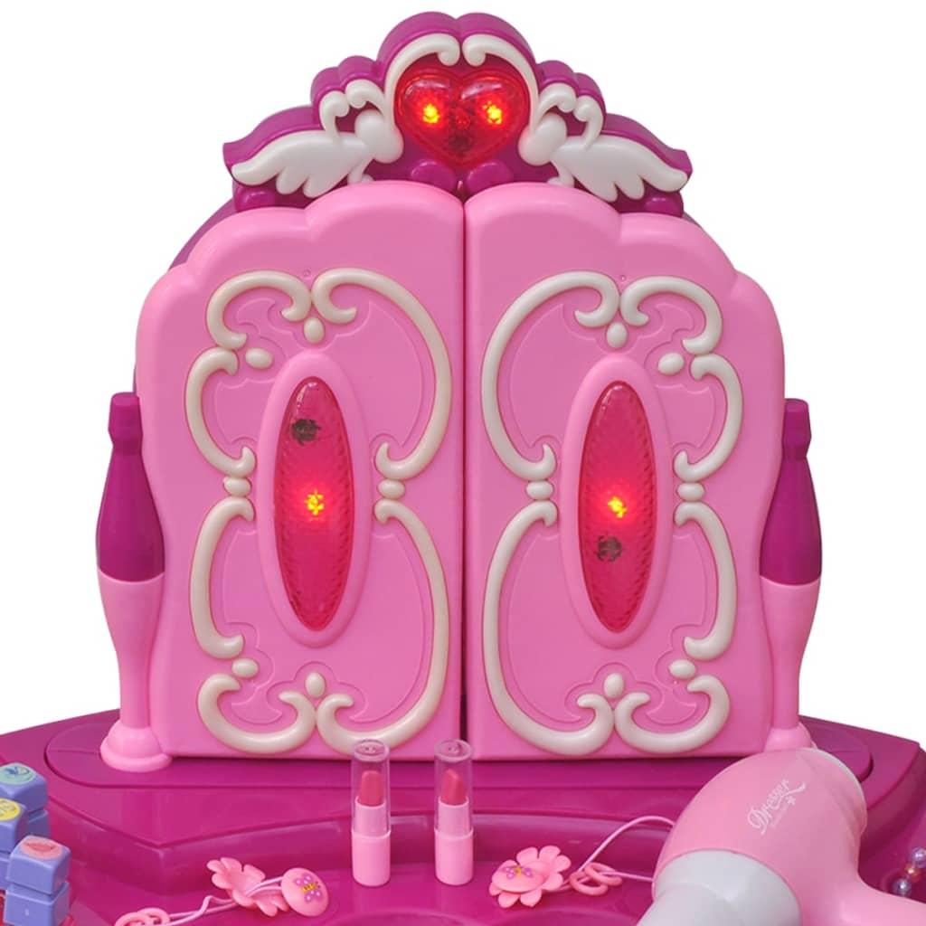Giochi da camera per bambini tavolo cosmetica 3 specchi con luci suoni - Luci camera bambini ...