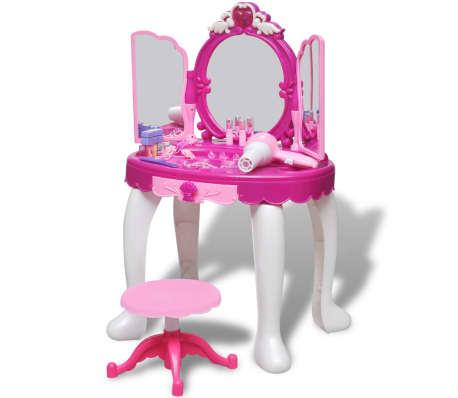 Articoli per giochi da camera per bambini tavolo cosmetica 3 specchi con luci suoni - Luci camera bambini ...