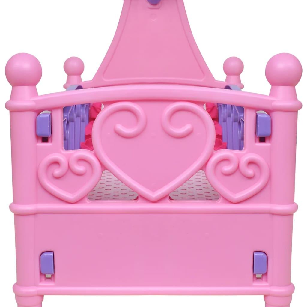 Poppenbed voor kinderen kinderkamer roze paars online kopen - Roze kinderkamer ...