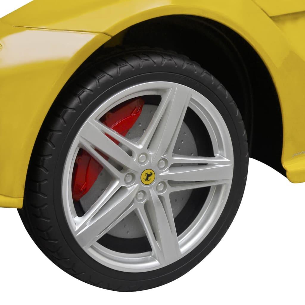 acheter vidaxl voiture de course ferrari f12 jaune 6 v avec t l commande pas cher. Black Bedroom Furniture Sets. Home Design Ideas