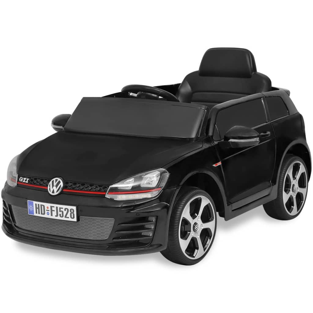 kinderauto elektroauto vw golf gti 7 schwarz 12 v mit. Black Bedroom Furniture Sets. Home Design Ideas