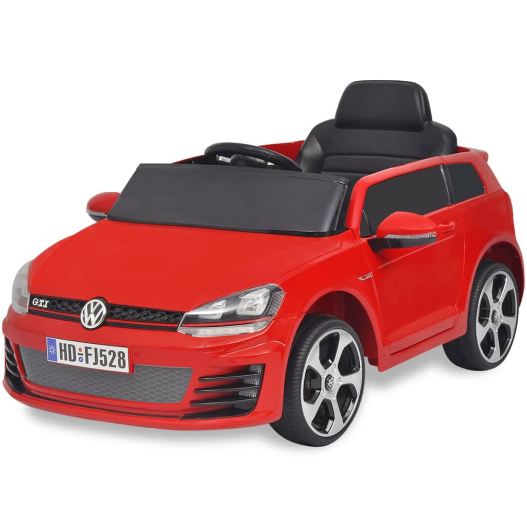 der kinderauto elektroauto vw golf gti 7 rot 12 v mit. Black Bedroom Furniture Sets. Home Design Ideas