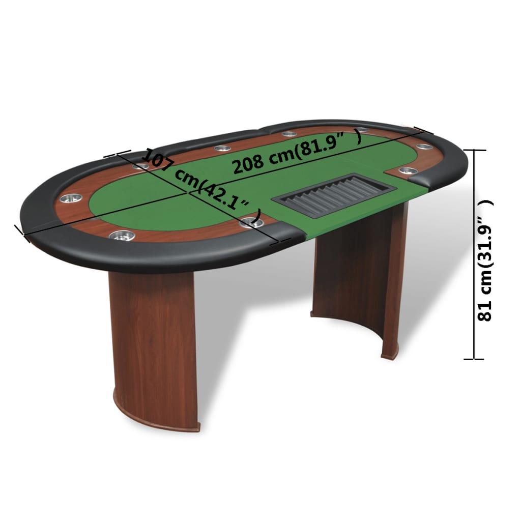 Articoli per tavolo da poker verde 10 giocatori postazione for Tavolo poker