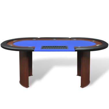 Tavolo da poker blu 10 giocatori postazione dealer vassoio for Tavolo poker