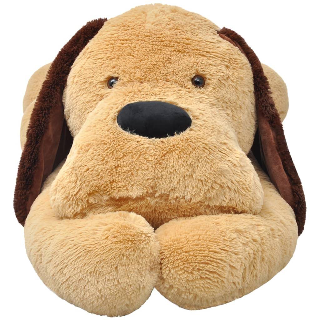 acheter vidaxl chien jouet en peluche 160 cm marron pas cher. Black Bedroom Furniture Sets. Home Design Ideas