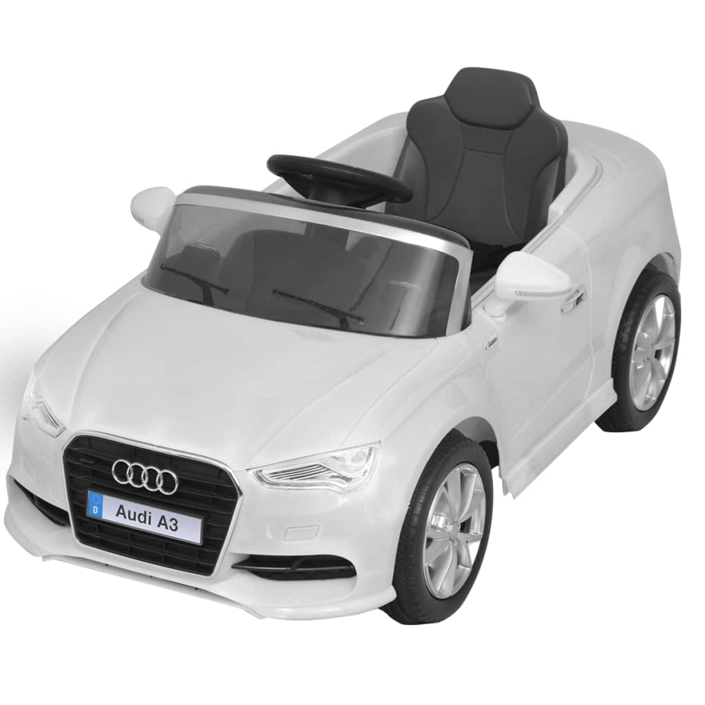 la boutique en ligne vidaxl voiture lectrique pour enfants t l command e audi a3 blanc. Black Bedroom Furniture Sets. Home Design Ideas
