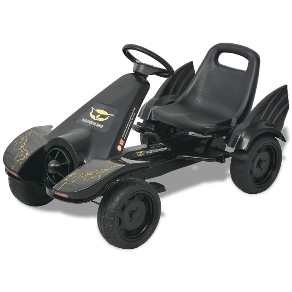 vidaXL pedálos gokart kocsi állítható üléssel fekete