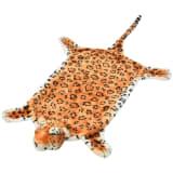 vidaXL Kilimas leopardas, pliušinis, 139 cm, rudas