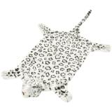 vidaXL leopárd szőnyeg plüss 139 cm fehér
