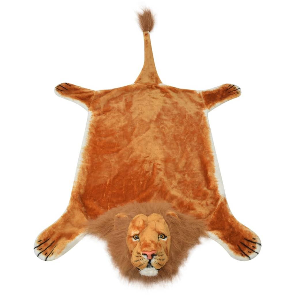 Vidaxl tappeto di peluche a forma di leone 205 cm marrone - Letto a forma di peluche ...