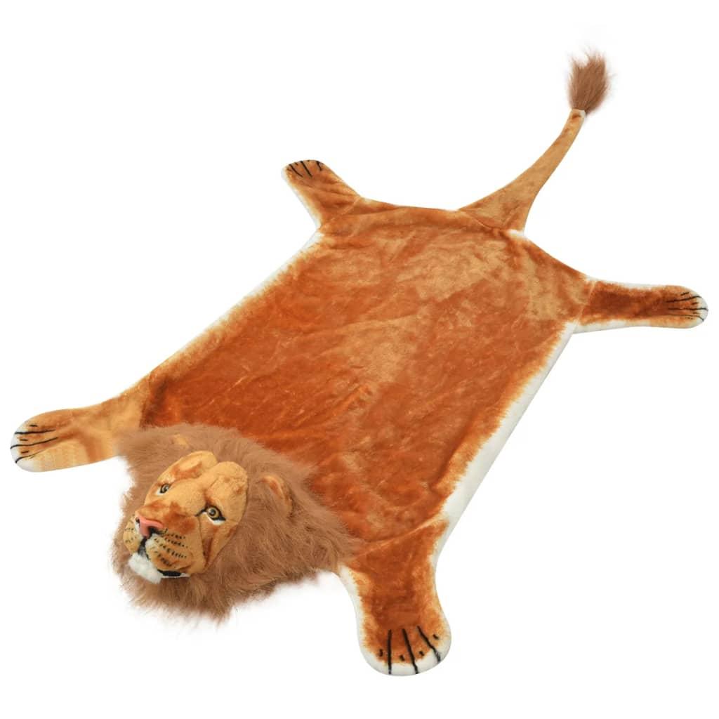 vidaXL oroszlán szőnyeg plüss 205 cm barna