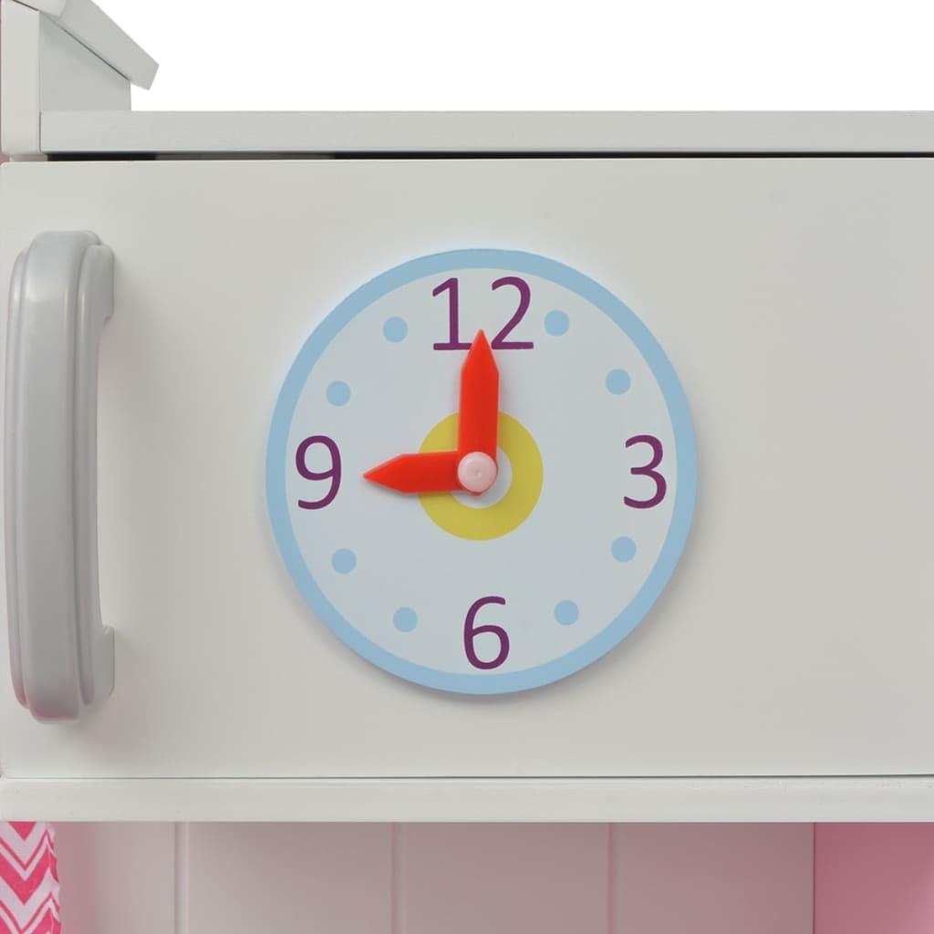 Vidaxl cucina giocattolo in legno 82x30x100 cm rosa e bianca - Cucine giocattolo in legno ...