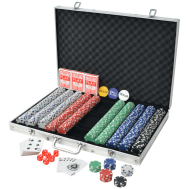 vidaxl poker set mit chips aluminium g nstig kaufen. Black Bedroom Furniture Sets. Home Design Ideas