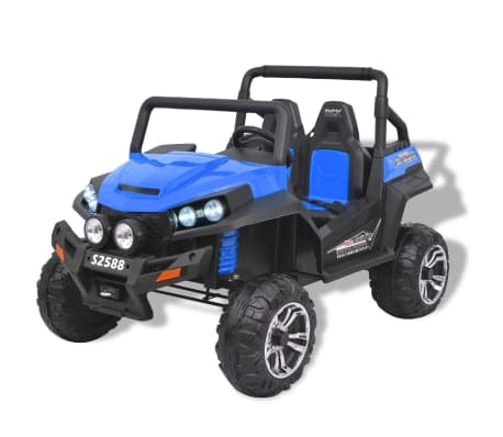 acheter vidaxl voiture lectrique pour enfants 2 places xxl bleu et noir pas cher. Black Bedroom Furniture Sets. Home Design Ideas