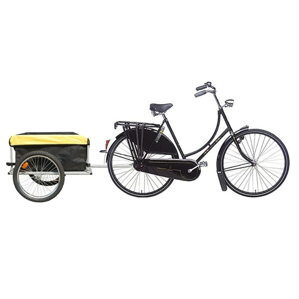 vidaXL Bike Trailer with Cover 140 litres