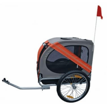 Dog bike trailer Rex (orange)[2/3]