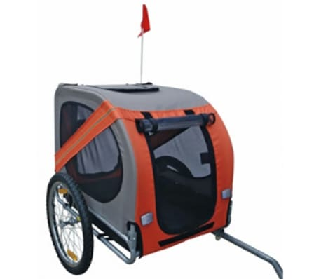 Dog bike trailer Rex (orange)