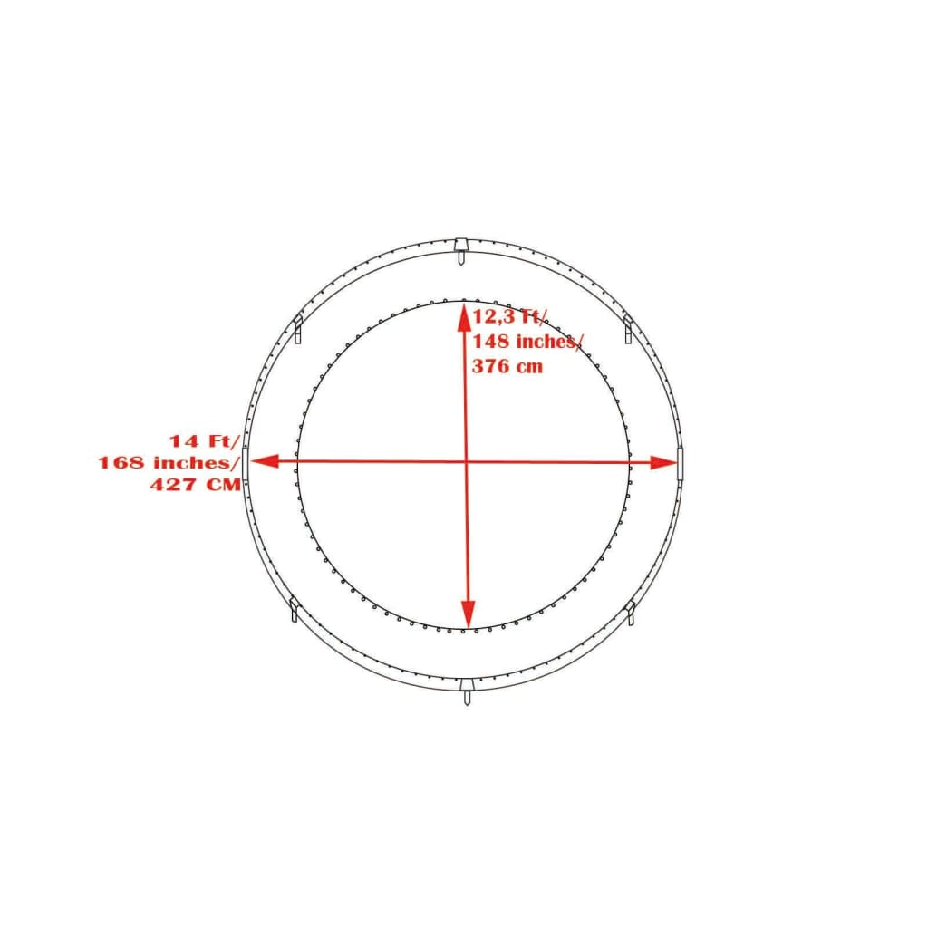 Trampoline Jumping Mat Fits 427cm (14 FT