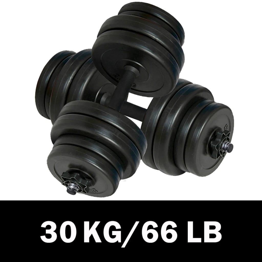 vidaXL Két darabos 30kg-os súlyzó