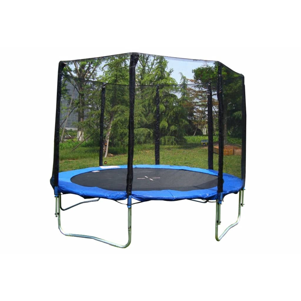 trampolin 370cm mit sicherheitsnetz leiter und schutzh lle. Black Bedroom Furniture Sets. Home Design Ideas